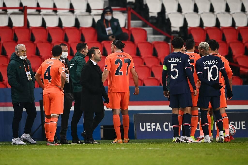 'No to Racial abuse' as PSG and Basaksehir end UCL game prematurely