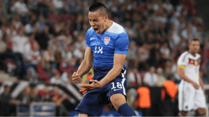 Bobby Wood celebrating his winning goal