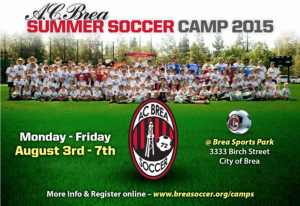 AC BREA SUMMER SOCCER CAMP 2015
