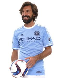 Pirlo showcasing the new uniform