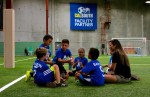The instructors remain personal with their players during training sessions.