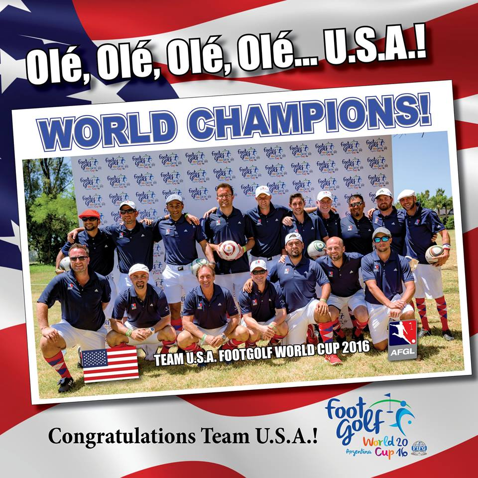 USA CROWNED FOOTGOLF WORLD CHAMPIONS