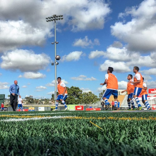Ziggy warming up his Albion Pros players before the San Diego Derby rematch with NC Battalion (May 2016)