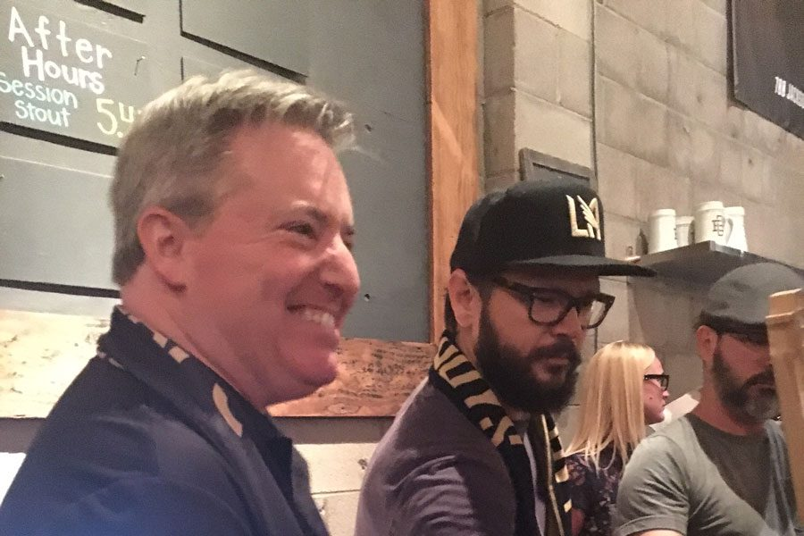 LAFC Supporters Eat, Drink and Get Merry Together at Black & Gold Rally
