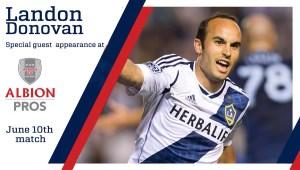 Albion PROS Host Fan Appreciation Night with Special Guest Landon Donovan