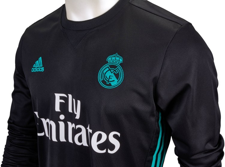 2017/18 adidas Real Madrid L/S Away Jersey- Real Madrid