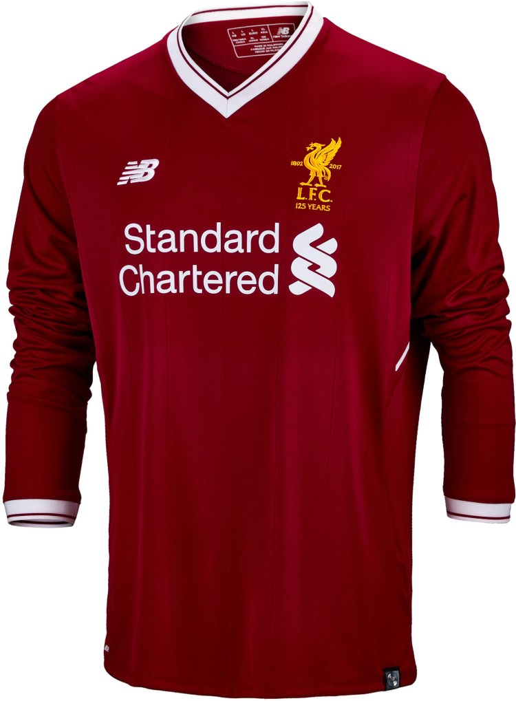 New Balance Liverpool L/S Home Jersey- 2017 Liverpool Jersey