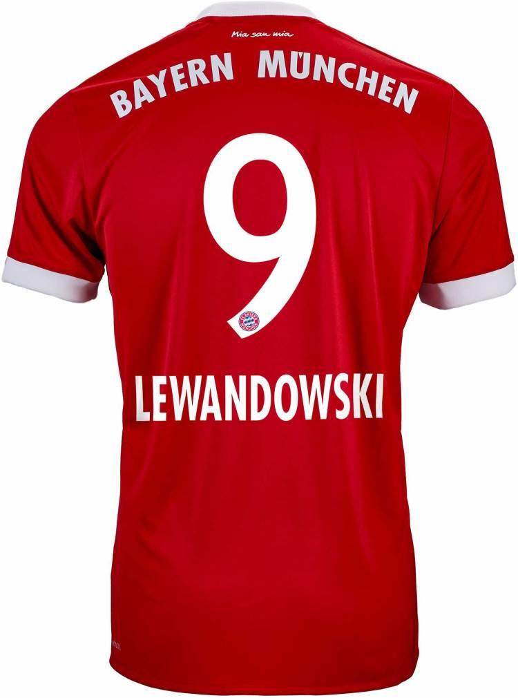 adidas Kids Lewandowski Bayern Munich Home Jersey 17-18