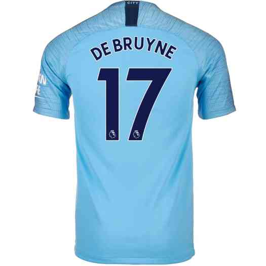 2018/19 Nike Kevin De Bruyne Manchester City Home Jersey ...