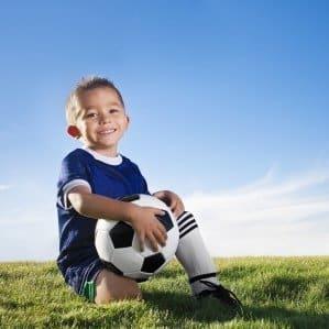 Smiling Soccer Kid