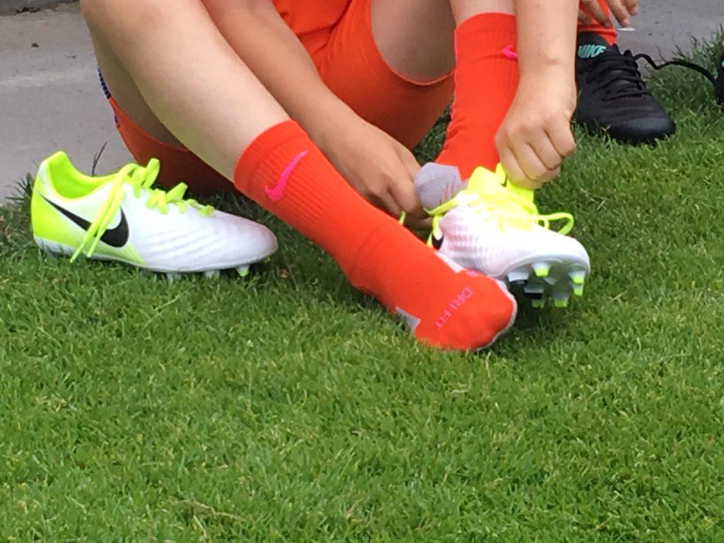 Fotoshoot KNVB met Nike voetbalschoenen