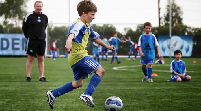 kids soccer and football