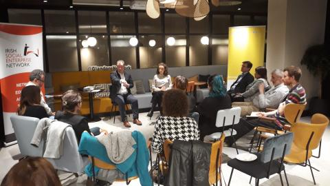 """The ASL project in Cork held its second """"Ask & Advise Evening"""" for Social Enterprises in the Glandore Workspace on Lapps Quay in Cork on the 19th of March 2019"""