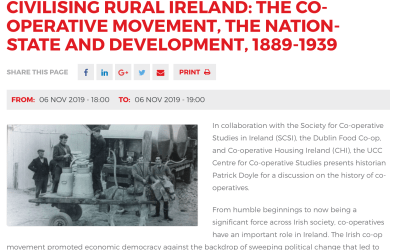 Civilising Rural Ireland: The Co-operative Movement, the Nation-State and Development in Ireland, 1889-1939