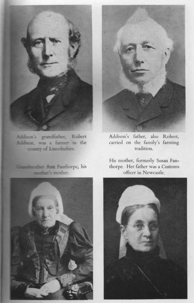 Christopher Addison's parents and 2 of his grandparents