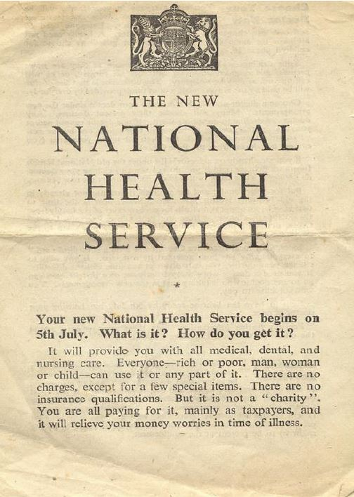 NHS 1948 Informational Leaflet