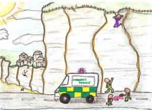 Ambulance or fence?