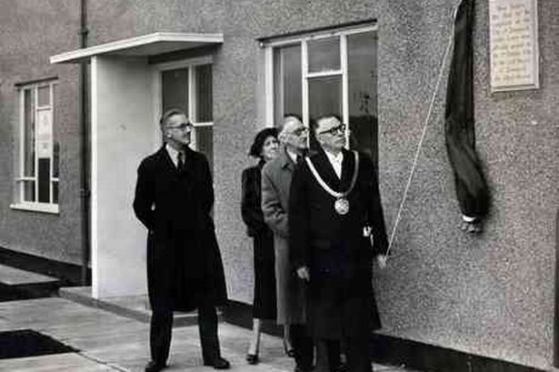 Lord Mayor of Liverpool, Alderman Albert Morrow, officially opens the first houses to be completed in Southdene, Kirkby, in 1952