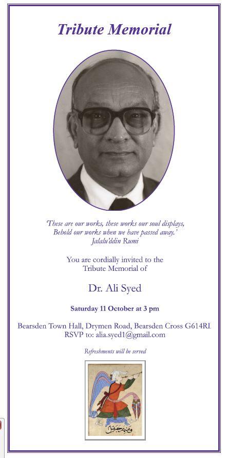 Ali Syed Memorial