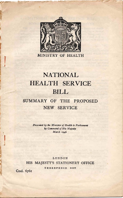 NHS Bill 1946 title page