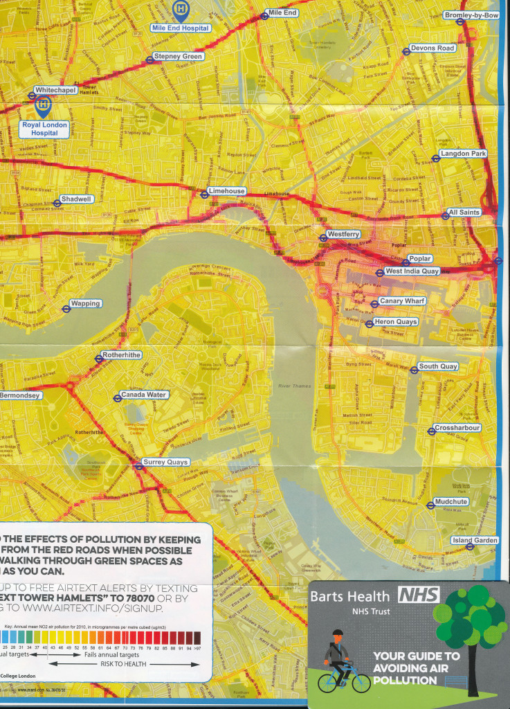 Map of air pollution in London