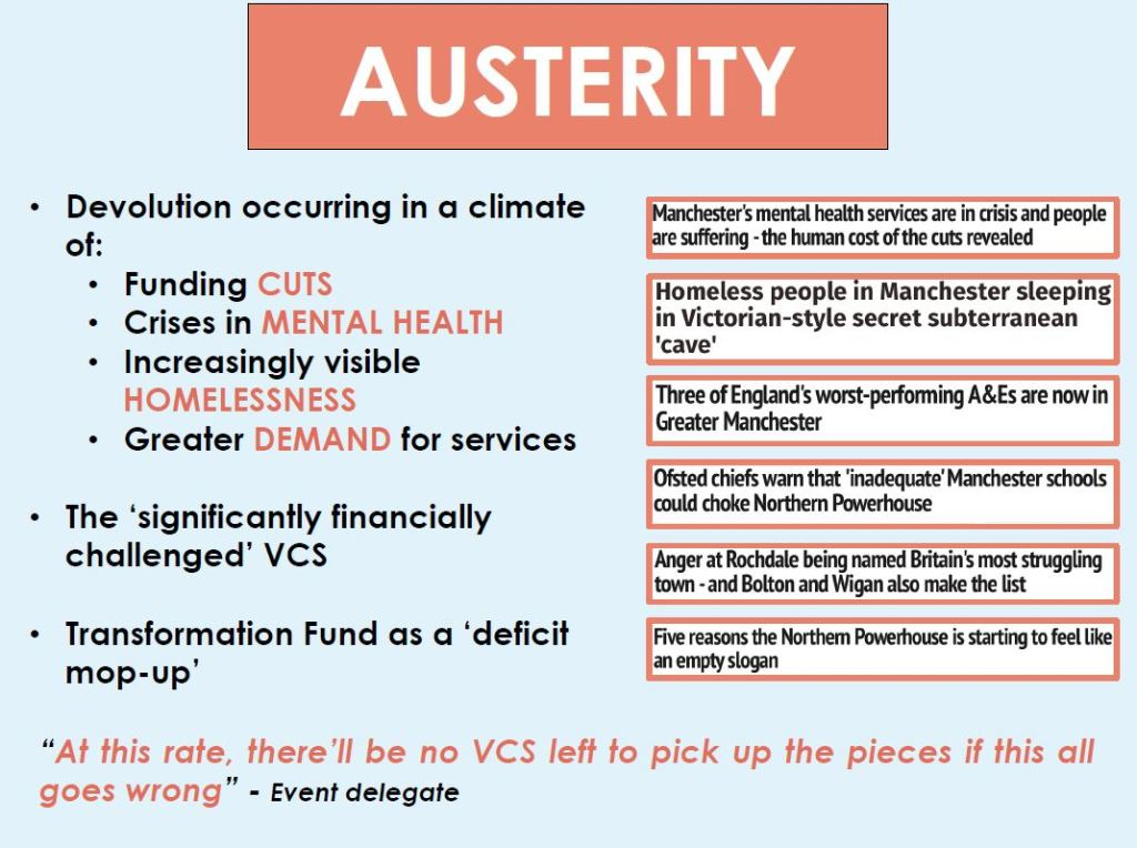 Austerity and the voluntary sector
