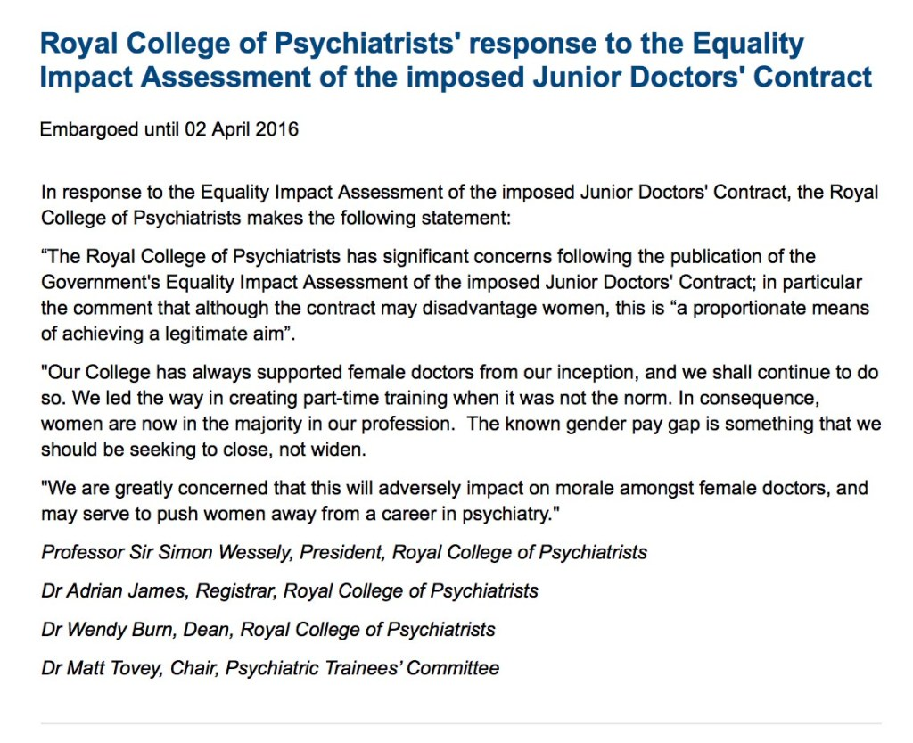 RCPsych response