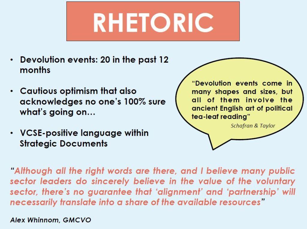 Rhetoric of devolution
