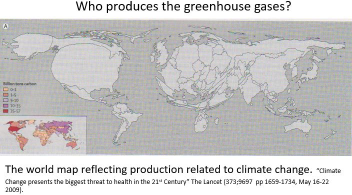 Who produces the greenhouse gases?