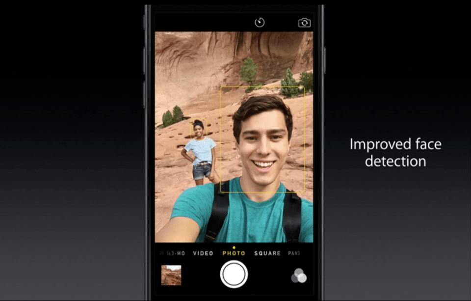 iPhone 6 -Camera - Facetime Camera Face Detection