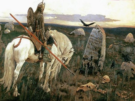 витязь на белом коне стоит на распутье