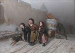 тройка крестьянских детей