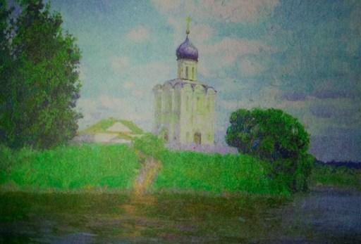 белокаменная церковь Покрова на берегу Нерли