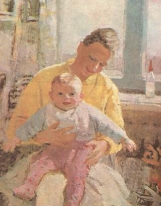 счастливое материнство на картине Нечитайло