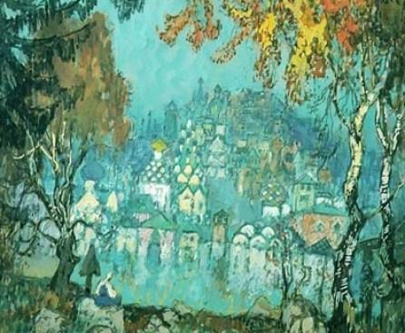 Утонувший Китеж-град на картине Горбатова К.И.