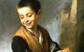 испанский мальчик с собакой на картине Мурильо