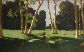 березовая роща ярким солнечным днем на картине Куинджи