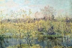 первое цветение на картине Ромадина