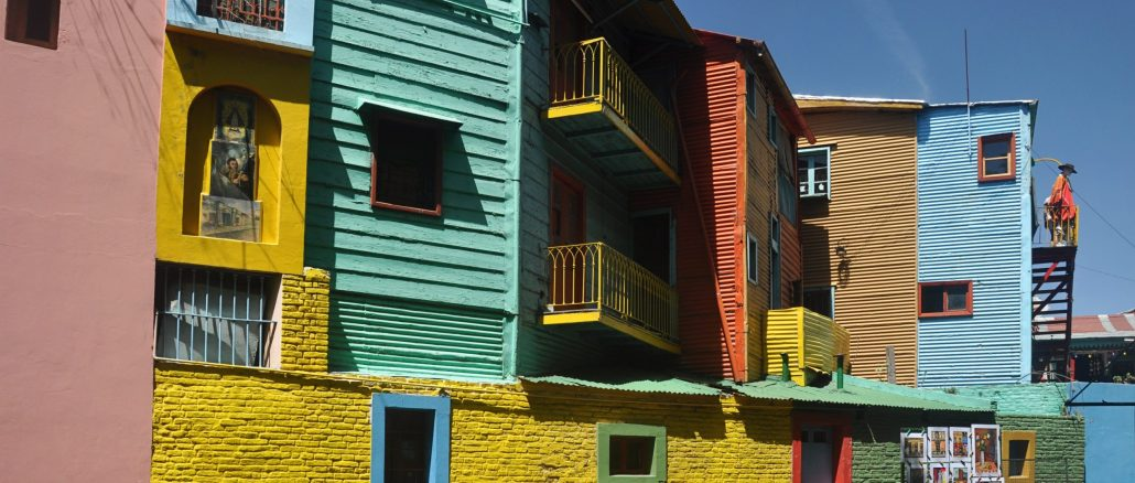 Image of colourful houses in Buenos Aires
