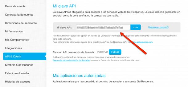 API GetResponse