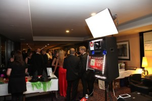 photo booth in action at Nottingham event