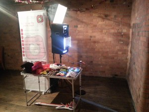 A typical Social Booth setup