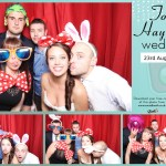 Tom & Hayley's wedding reception photo booth