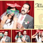 Mr & Mrs Thompson wedding celebration photo booth