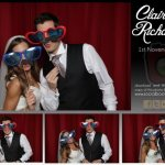 Claire and Richard's wedding reception photo booth