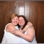 Clare and Emma's wedding reception photobooth