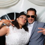 Mr & Mrs Imaeil wedding reception photo booth