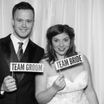 Mr & Mrs Pringle wedding reception photo booth