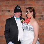 Mr & Mrs Goulding wedding reception photo booth