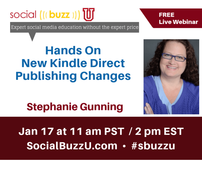 kindle direct publishing training with Stephanie Gunning